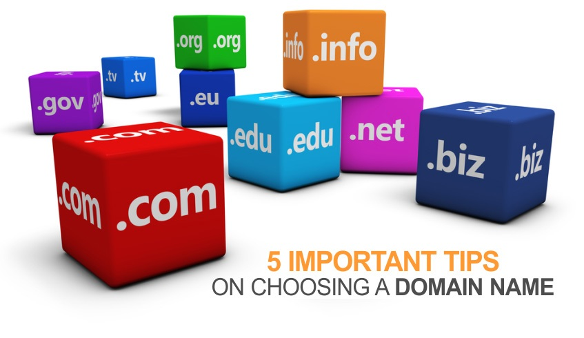 5 Important Tips on Choosing a Domain name